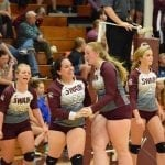 Lady Devils Celebrate the Point