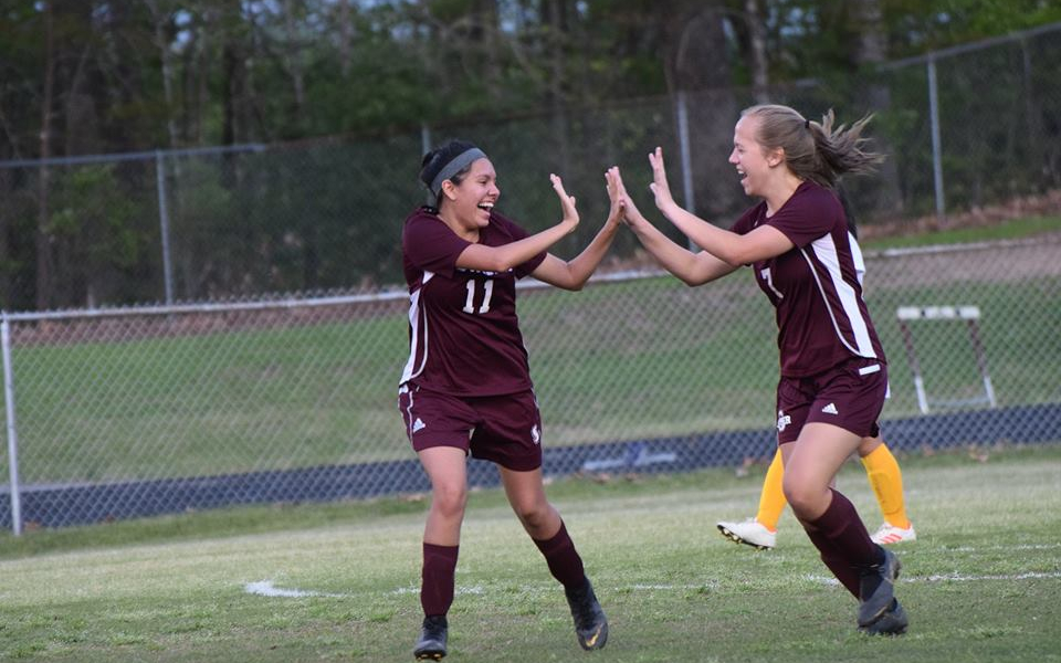 Six Different Lady Devils Score as Swain Blanks Braves