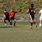Photo of Landon Matz going in for the goal by Joanna McMahan
