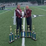 Senior Drum Major Rebekah Lambert and Senior Percussion Captain Harlie Hyatt