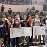 Swain wrestlers at James Orr Tournament