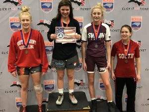 Jessica Lowman 3rd from the left on the podium