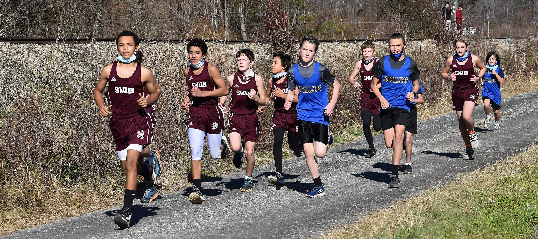 Highlands Middle Edges Swain in 1st Meet of Season