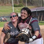 Stacey Griggs & catcher Kele Eagleman