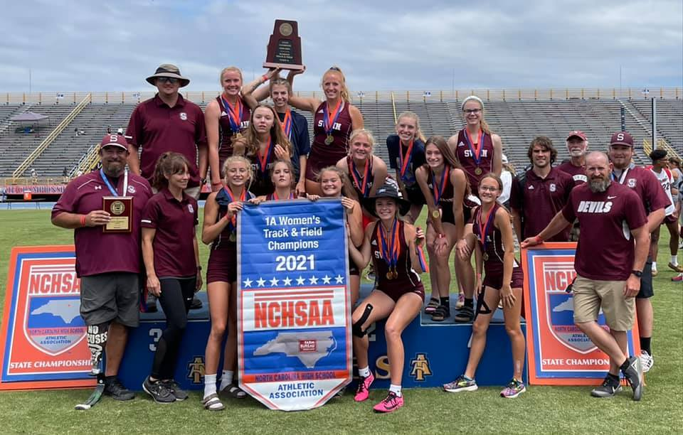 Lady Devils Are 2021 NCHSAA State 1A Track Champions