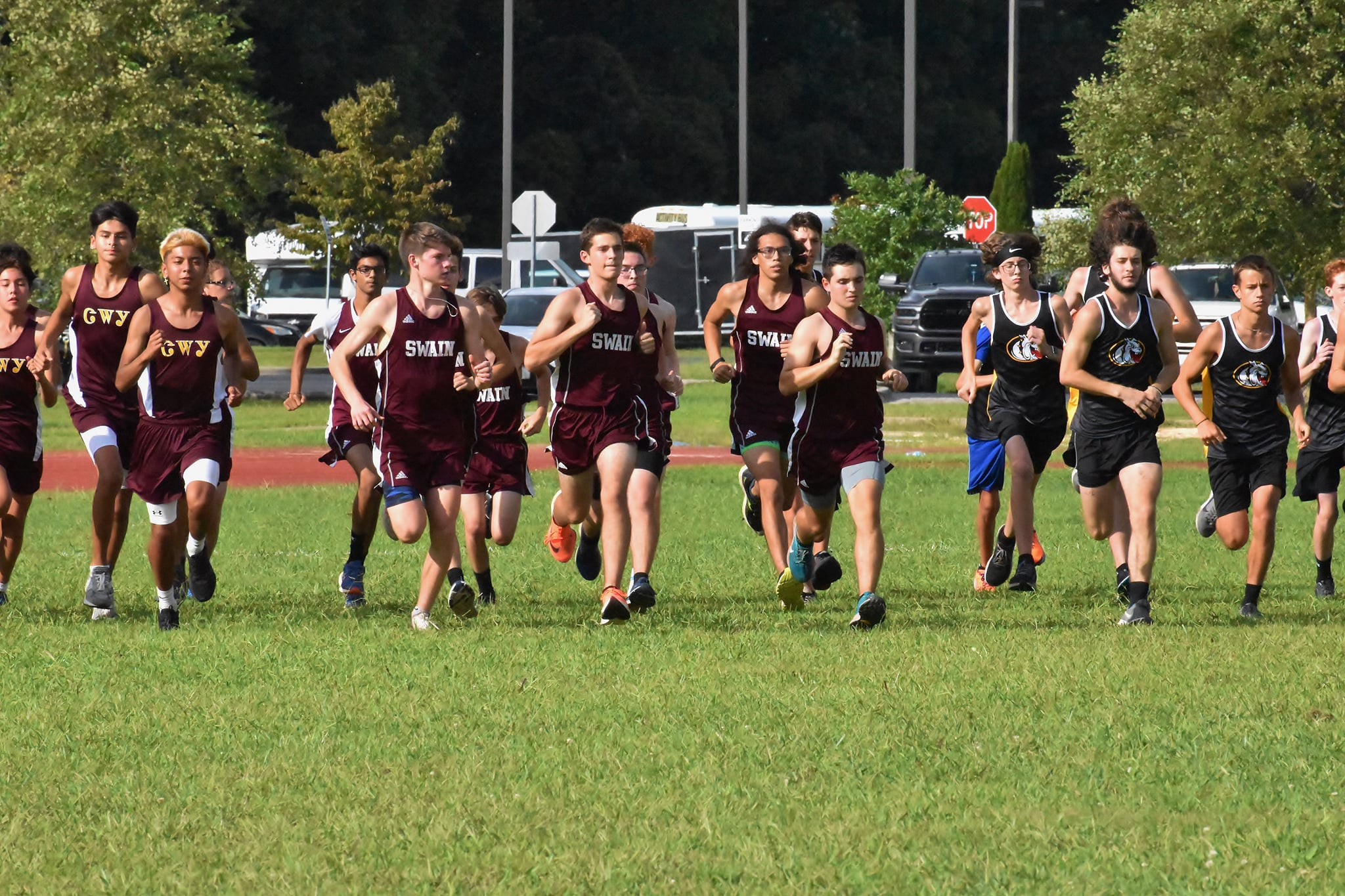 Swain Takes 1st in Close Meet